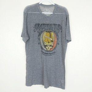 Chaser Grateful Dead Gray Burnout T-shirt. XL